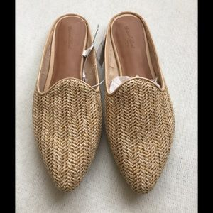 Weaved mules! Brand new with tags